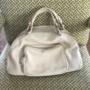 """Furla Handbag. White. 17x13""""."""